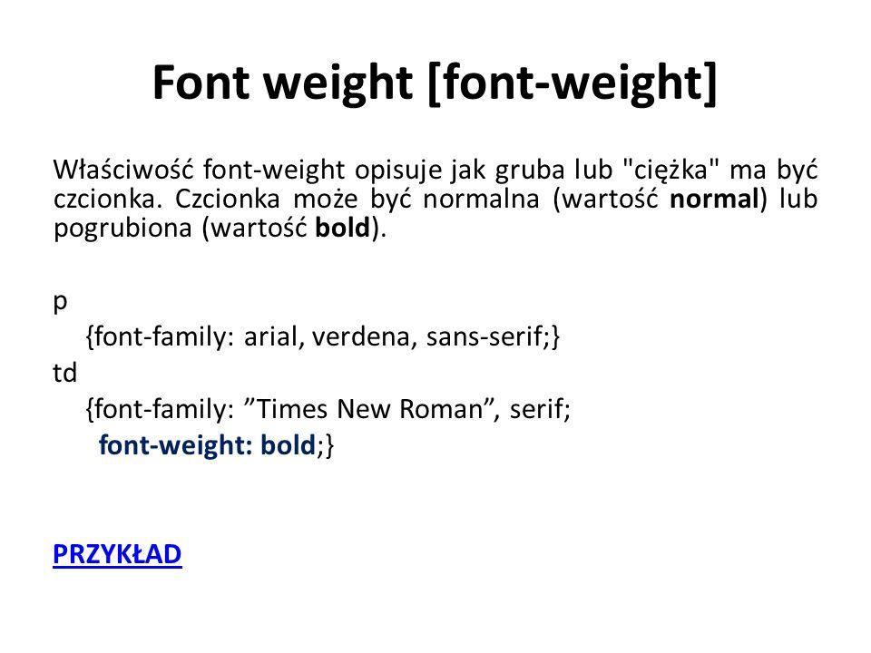 Font weight [font-weight]